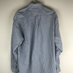 Tommy Hilfiger Shirts - Tommy Hilfiger Mens Blue and White Striped Long Sl